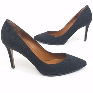 Aquatalia Textured Black High Heel Pump Size 8.5